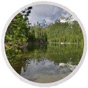 String Lake Teton Reflection Round Beach Towel