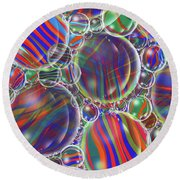 Striped Biggons Marbles Round Beach Towel