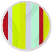 Striped Color Brown Blue Green Round Beach Towel