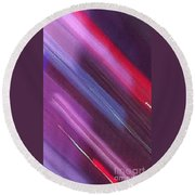 Stripes Abstract Round Beach Towel
