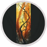 Striving To Be The Best By Madart Round Beach Towel by Megan Duncanson