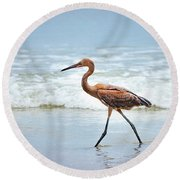 Strolling Round Beach Towel by Todd Blanchard
