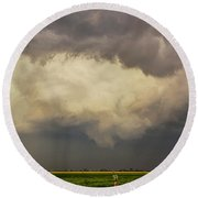 Strong Storms In South Central Nebraska 006 Round Beach Towel