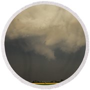 Strong Storms In South Central Nebraska 007 Round Beach Towel