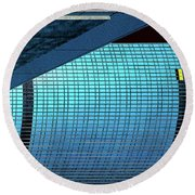 Structures East 2 Round Beach Towel