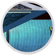 Structures East 3 Round Beach Towel