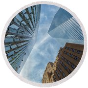 Structures Of Nyc 6  Round Beach Towel