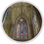 Structures Of St. Patrick Cathedral 3 Round Beach Towel