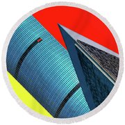 Structures Tilted Round Beach Towel