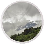 Stryn Lake And Jostedalsbreen National Park Round Beach Towel