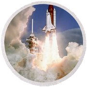 Sts-27, Space Shuttle Atlantis Launch Round Beach Towel