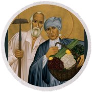 Sts. Isidore And Maria - Rliam Round Beach Towel