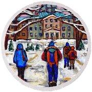 L'art De Mcgill University Tableaux A Vendre Montreal Art For Sale Petits Formats Mcgill Paintings  Round Beach Towel