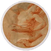 Study For Boreas Abducting Oreithyia Round Beach Towel