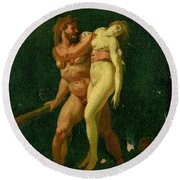 Study For Hercules And Alcestis Round Beach Towel