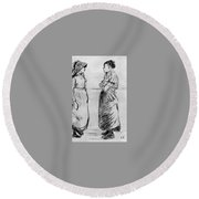 Study For The Cat Camille Pissarro Round Beach Towel