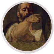 Study For The Centurion Of The Martyrdom Of Saint Symphorien 1834 Round Beach Towel