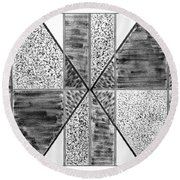 Study Of Texture Line And Materials Round Beach Towel