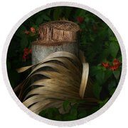Stump And Frond Round Beach Towel