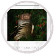 Stump And Frond Poster Round Beach Towel