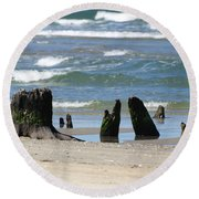 Stumpy Beach Round Beach Towel