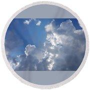 Stunning Clouds  Round Beach Towel