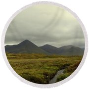 Stunning Countryside In Cuillen Hills With Large Mountains  Round Beach Towel