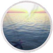 Stunning Eleuthera Sunset 2 Round Beach Towel