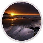 Stunning Sunrise Round Beach Towel