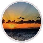 Stunning Sunset Round Beach Towel
