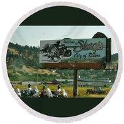 Sturgis City Of Riders Round Beach Towel
