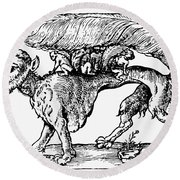 Su Monster (opossum), 1558 Round Beach Towel