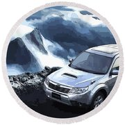 Subaru Round Beach Towel