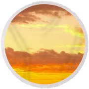 Sublime Sunrise Round Beach Towel