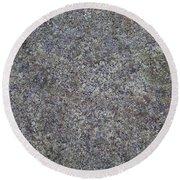Subtle Lichen On Granite Texture Round Beach Towel
