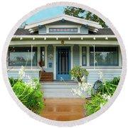Suburban Arts And Crafts House Hayward California 8 Round Beach Towel