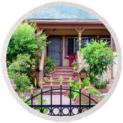 Suburban House Hayward California 38 Round Beach Towel