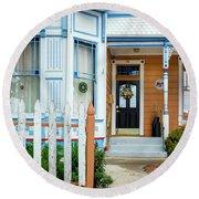 Suburban House Hayward California 9 Round Beach Towel