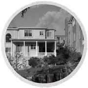 Suburban House On Hayward Boulevard Hayward California 2 Round Beach Towel