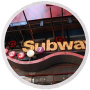 Subway Round Beach Towel