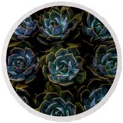 Succulent Round Beach Towel by Rod Sterling