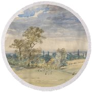 Suffolk Landscape Round Beach Towel