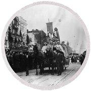 Suffrage Parade, 1913 Round Beach Towel