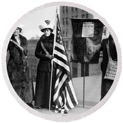 Suffragettes, C1910 Round Beach Towel