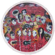Sug At Red Rocks Amphitheater 2010 Round Beach Towel