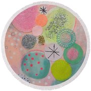 Sugar Buns Round Beach Towel