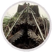 Sugar Cane Cutter Round Beach Towel
