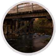 Sugar River Trestle Wisconsin Round Beach Towel