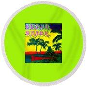 Sugar Shack Round Beach Towel