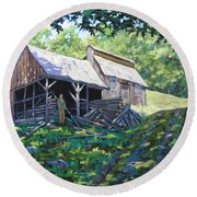 Sugar Shack In July Round Beach Towel